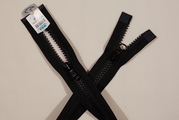Jakkelynlås, 2-vejs-delbar, plast, 6 mm bred, 95 cm lang