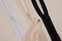 Jakkelynlås, spiraltype, delbar, plast, 6 mm bred, 40 cm lang