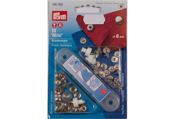 Minitrykknapper 8 mm