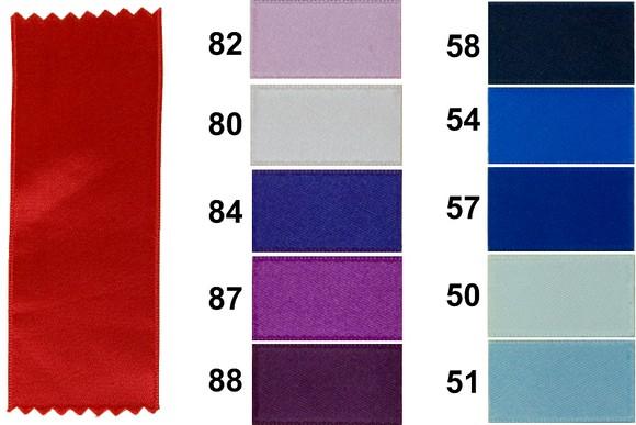 Satinbånd, blå/lilla farver, 40 mm bredde