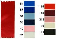 Satinbånd blå - turkis -lyserød 50 mm bredde