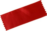 Satinbånd i rød i 100 mm bredde