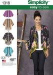 Simplicity 1318. Kimono jakker.