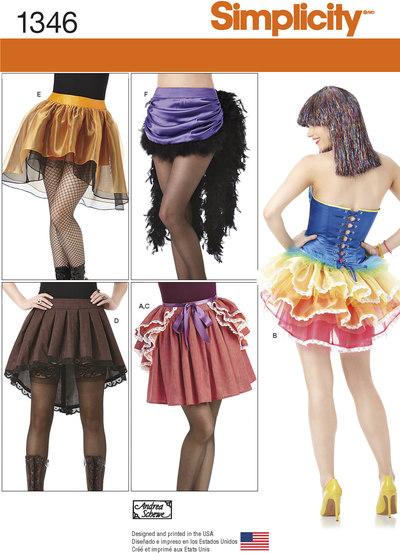 Kostumenederdele, strutskørter