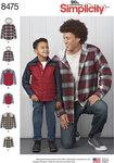 Simplicity 8475. Bluse og skjorte-jakke til mænd og drenge.