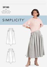 Nederdele. Simplicity 9180.