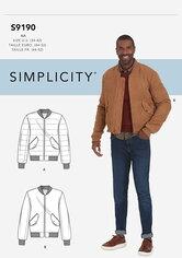 Jakke. Simplicity 9190.