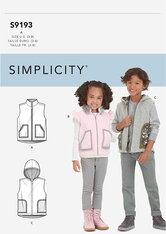 Childrens Vest. Simplicity 9193.
