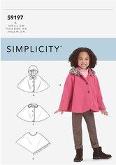 Kappe og poncho til børn. Simplicity 9197.