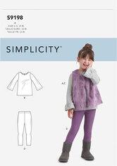 Toppe, Vest og Gamacher til børn. Simplicity 9198.