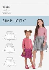 Nederdele til børn. Simplicity 9199.
