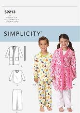 Childrens Cozywear. Simplicity 9213.