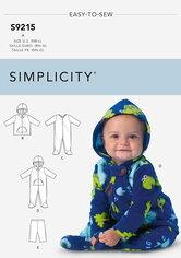 Baby jakker, dragter, bukser. Simplicity 9215.