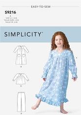 Kjole, top, bukser til børn. Simplicity 9216.