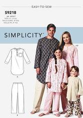 Tunika og bukser til børn. Simplicity 9218.