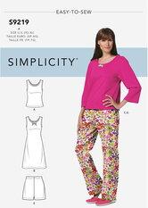 Nattøj. Simplicity 9219.