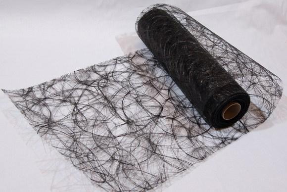 Sort festremse løberstof i hårlignende polyesternet