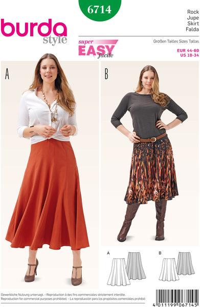 Mellemlang og lang nederdel