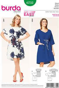 Burda mønster: Kjole, O-Form