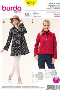 Burda mønster: Frakke og jakke med Peter Pan krave