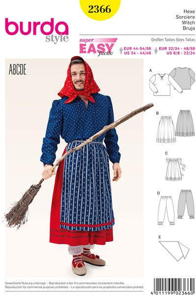 Heks, Bluse, Nederdel, Forklæde, tørklæde