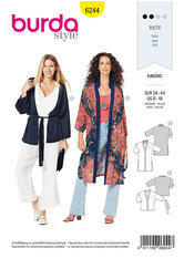 Kimono, frakke, jakke. Burda 6244.
