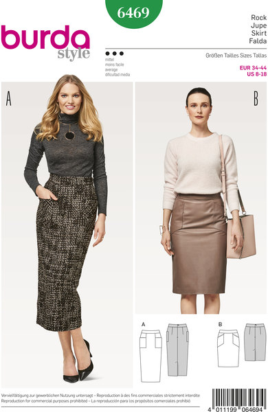 Klassisk kort og lang nederdel