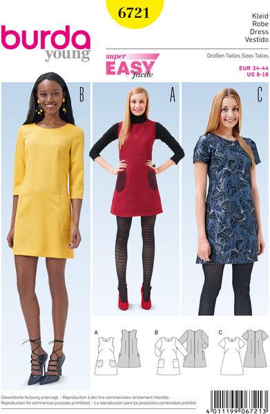 Kjole, ærmeløs kjole, klokkeformede, klaplommer