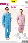 Burda 6741. Herre pyjamas, klassisk stil.