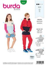 Sweater, hættetrøje. Burda 9301.
