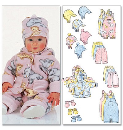 Infants Jacket, Overalls, Pants, Hat og Mittens