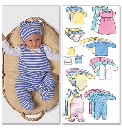 Infants Jacket, Dress, Top, Romper, Diaper Cover og Hat