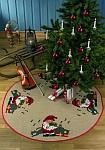 Permin 45-9240. Rundt juletræstæppe med nisse og katte.