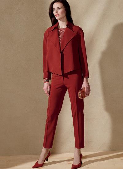 Åben, løs jakke og bukser, Anne Klein