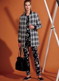 Foeret jakke, striktunika, gamacher og bukser. Vogue 9275.