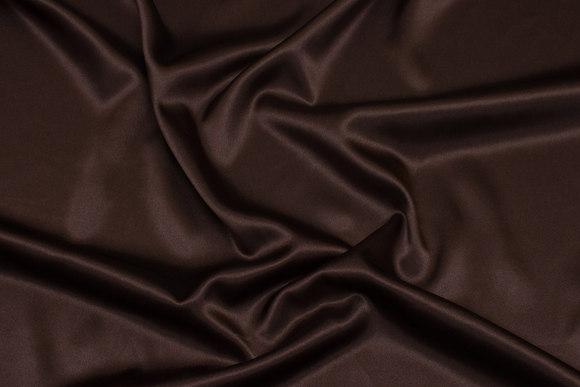 Tretch-satin lys chocoladebrun