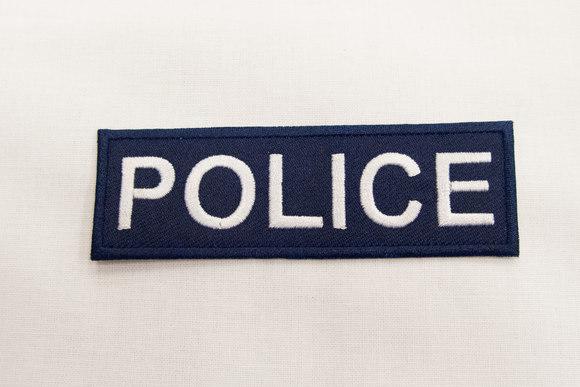 POLICE strygemærke 3x9cm