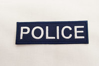 POLICE strygemærke 3 x 9 cm