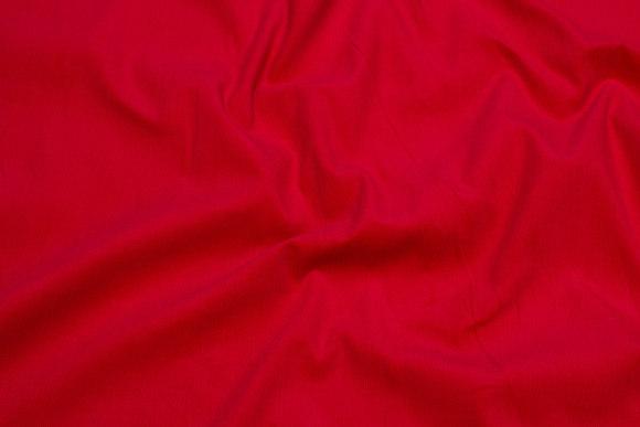 Rød Babyfløjl i bomuld