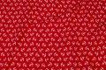 Rød bomuldsjersey med små hvide 16 mm ankre