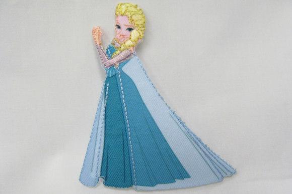 Frost Elsa strygemotiv 9x3 cm