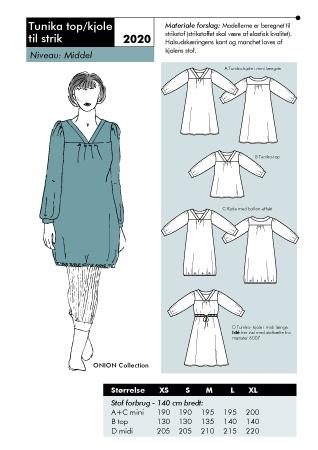 Tunika top/kjole til strik