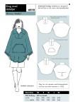 Raffineret overtøj med høj flot rørkrave, f.eks. med en lægger sweater under. Perfekt til tynd uldfilt   store knapper, afsluttet med bånd.
