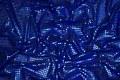 Coboltblå paillet-stof, i flot let kvalitet.
