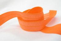 Elastikkantebånd i orange 2 cm. br.