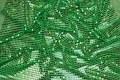Grøn paillet-stof, i flot let kvalitet.