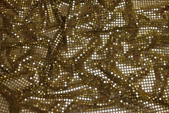 Guld-sort paillet-stof, i flot let kvalitet