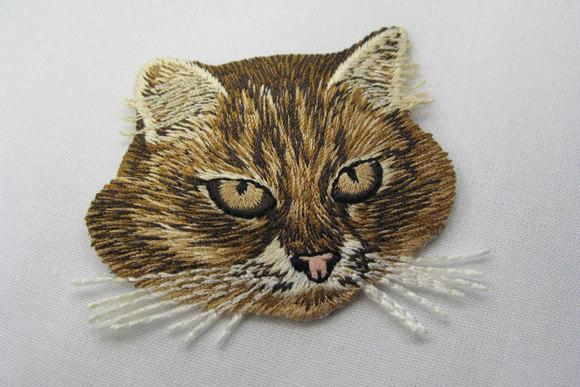 Kat strygemærke 5x6cm