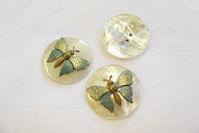 Perlemorsknap med sommerfugl 3 cm