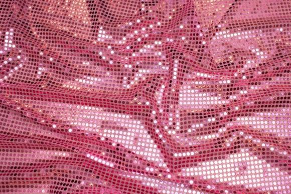 Rosa paillet-stof, i flot let kvalitet